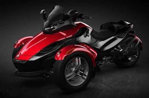 motorcycles with two front wheels brp can am spyder introduces an all new three wheel. Black Bedroom Furniture Sets. Home Design Ideas
