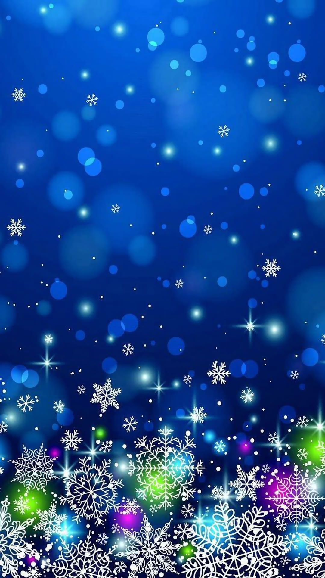 冬のキラキラ壁紙 ブルー 冬の壁紙 キラキラ 壁紙 壁紙