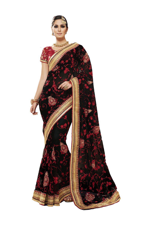 Black colour saree images da facioun silk based brick red saree  skirtpeticoat and fall