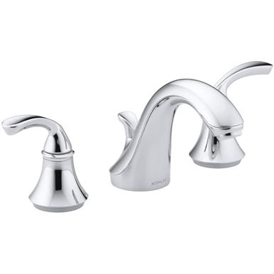 Kohler Forte Forte Widespread Bathroom Sink Faucet With Sculpted
