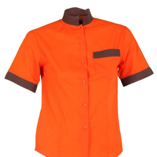4fa3460002 2485 Camisa chica manga corta naranja  uniformes  hostelería  camarero