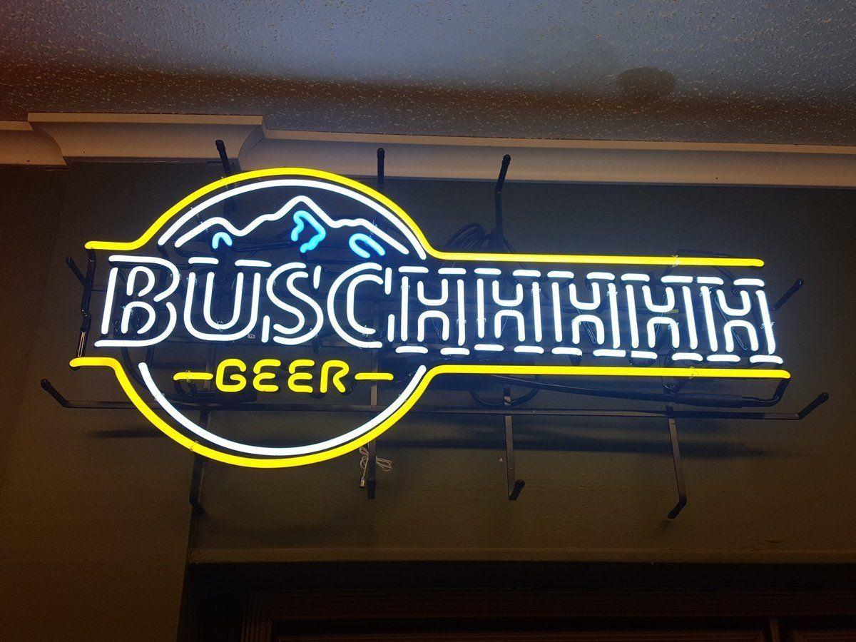 Busch Light Blue Neon Sign Glass Tube Neon Light in 2019