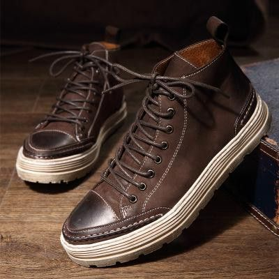 real leather men casual walking shoes men's breathable