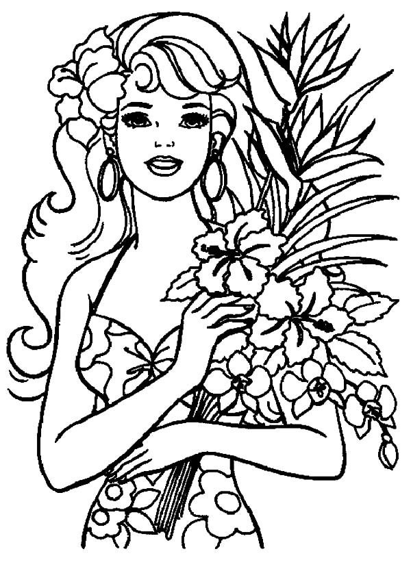 Barbie Vacation To Hawaii Island Coloring Pages Coloring Sun Barbie Coloring Pages Princess Coloring Pages Barbie Coloring