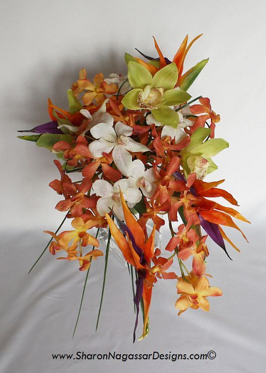 Bird of Paradise Real Touch flowers Bride bouquets and Groom set in ...