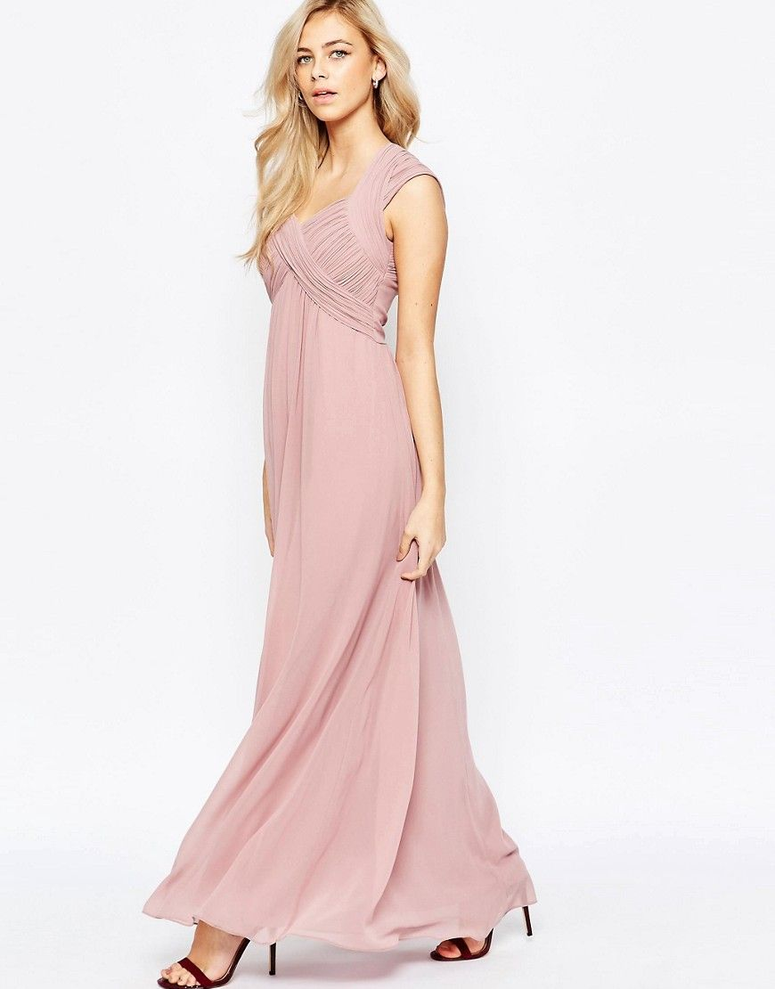 Image 1 of Little Mistress Crossover Empire Maxi Dress | Bridesmaids ...