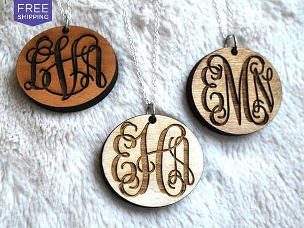 50% savings: Metal is so last season -- rock a truly unique wooden necklace beautifully engraved with circle script when you use this...