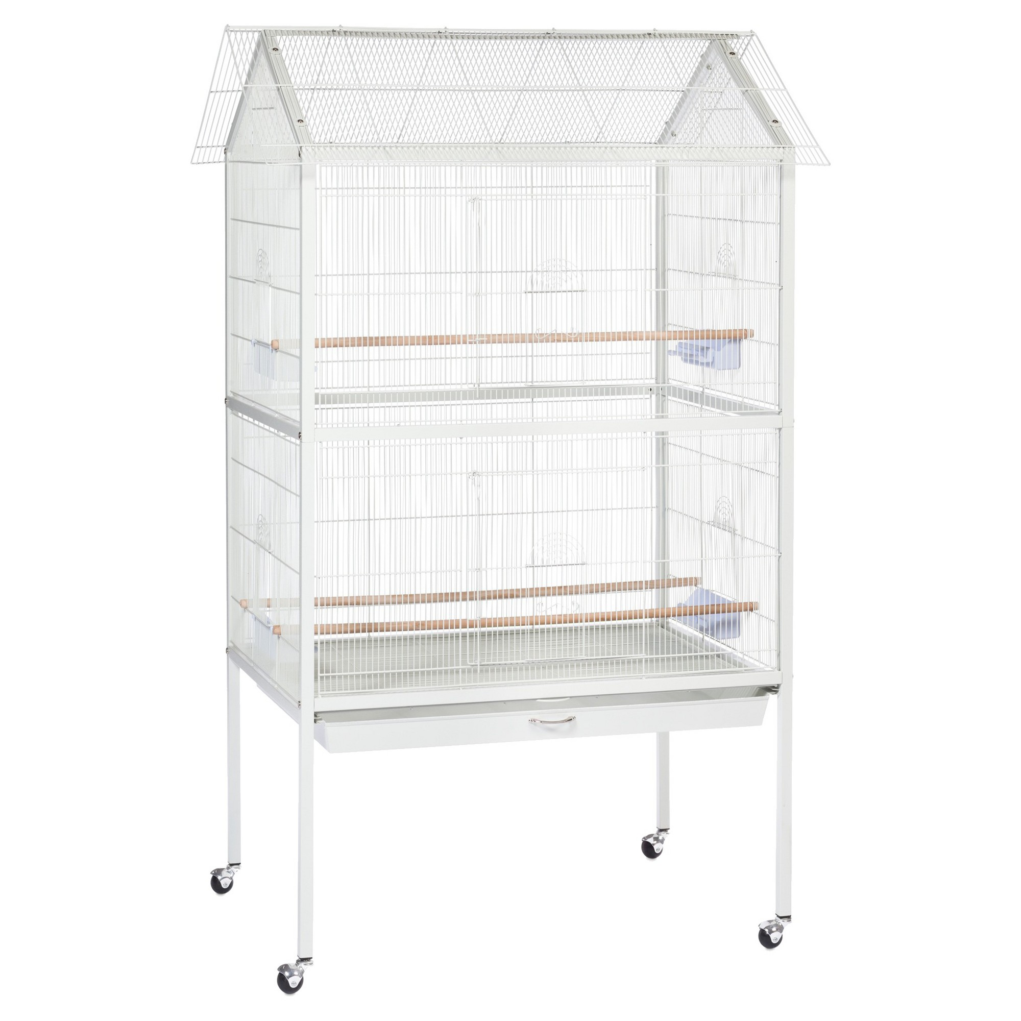 Prevue Pet Products Aviary Flight Cage with Stand - White - Large ...