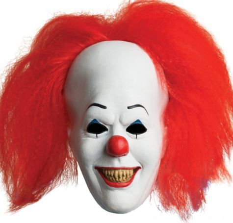Deluxe Pennywise Mask - It - Party City | Stephen King ...