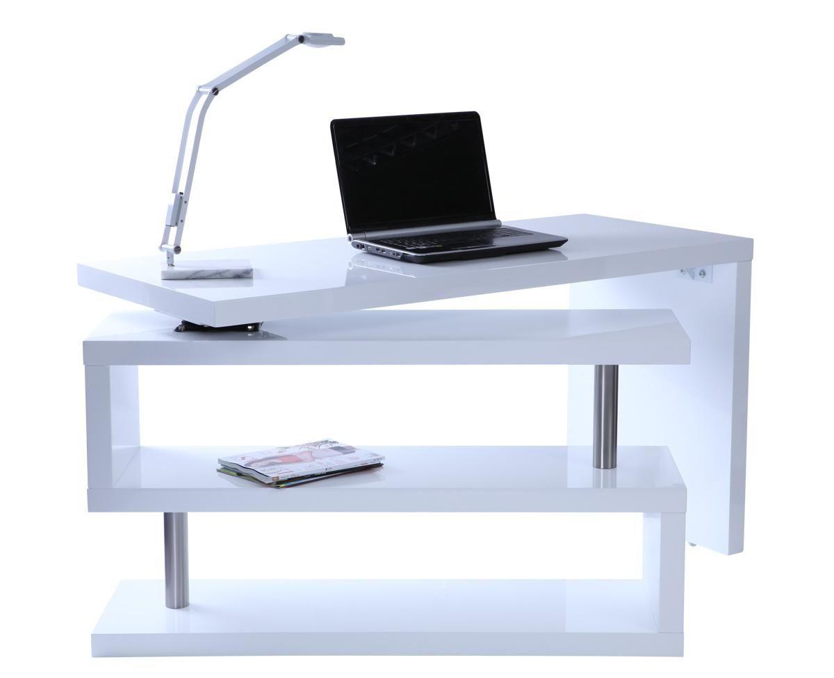 Scrivania Per Computer Design.Scrivania Design Laccata Bianca Miliboo For The Home In 2019