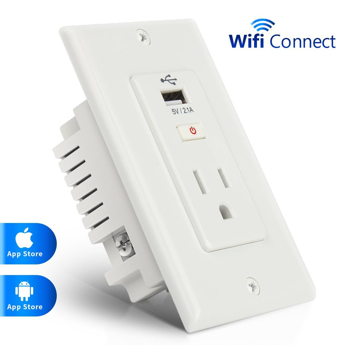 Alexa Wireless Mini Smart Plug Outlet Lookie Timer Socket How To Wire A Light Switch Remote With Usb Port Support Voice Control And No Hub