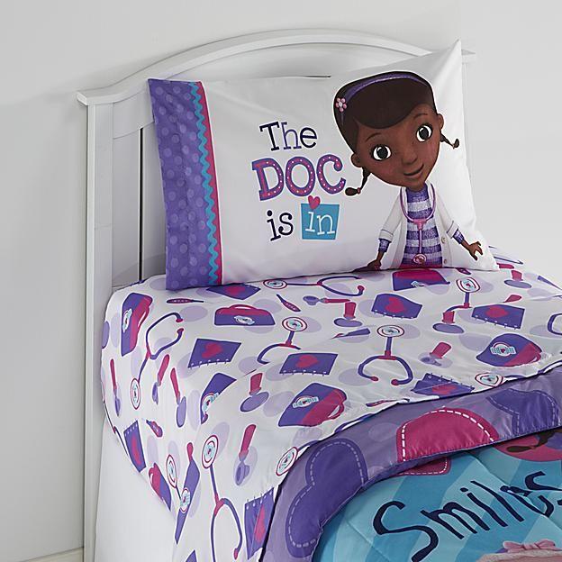 disney doc mcstuffins girl's twin sheet set  doc