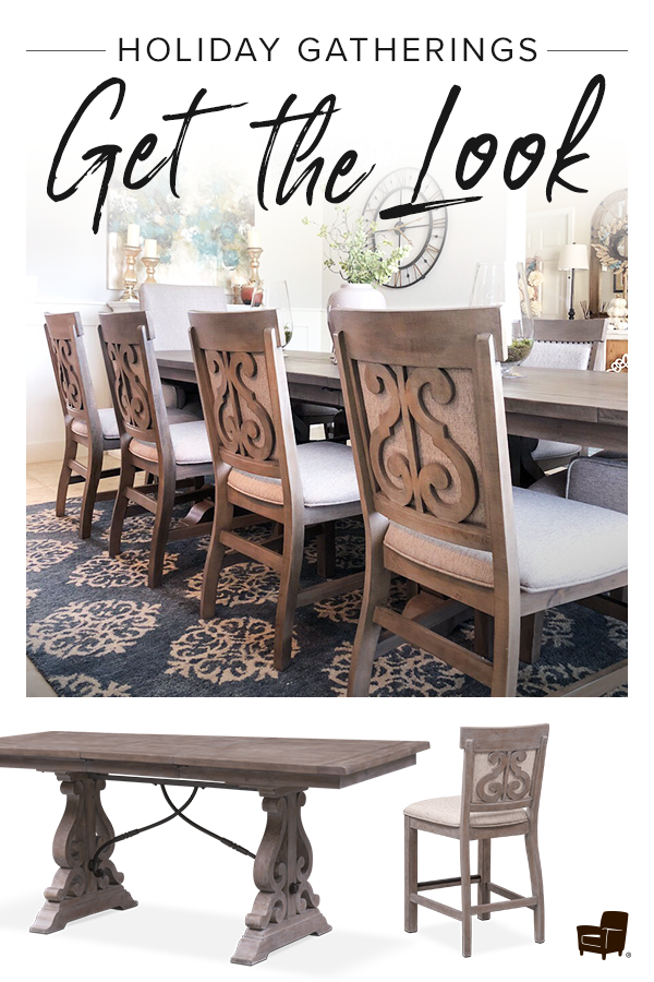 Intricate Detailing Rustic And Grand The Charthouse Dining Room Set Magnificently Sets A Welcoming Tone In Your Space With Its Weath Dining Room Sets Dining Room Design Rooms Home Decor