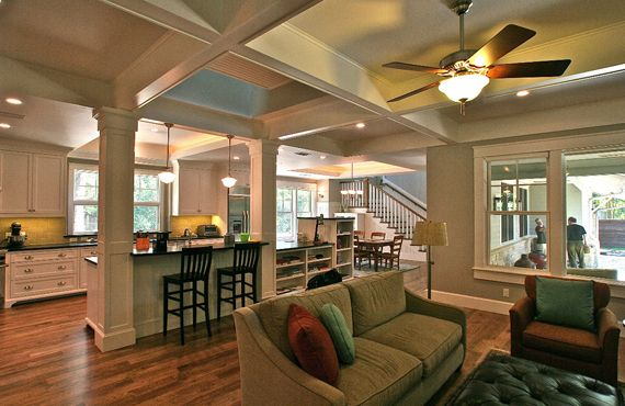 Craftsman Bungalow Interior Pictures Love A Divided Yet Open Floor Plan