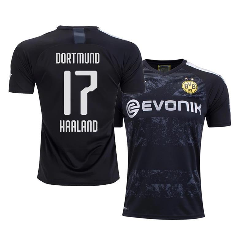Borussia Dortmund 2019 20 Erling Haaland Away Bvb Jersey In 2020 Soccer Shirts Dortmund Borussia Dortmund