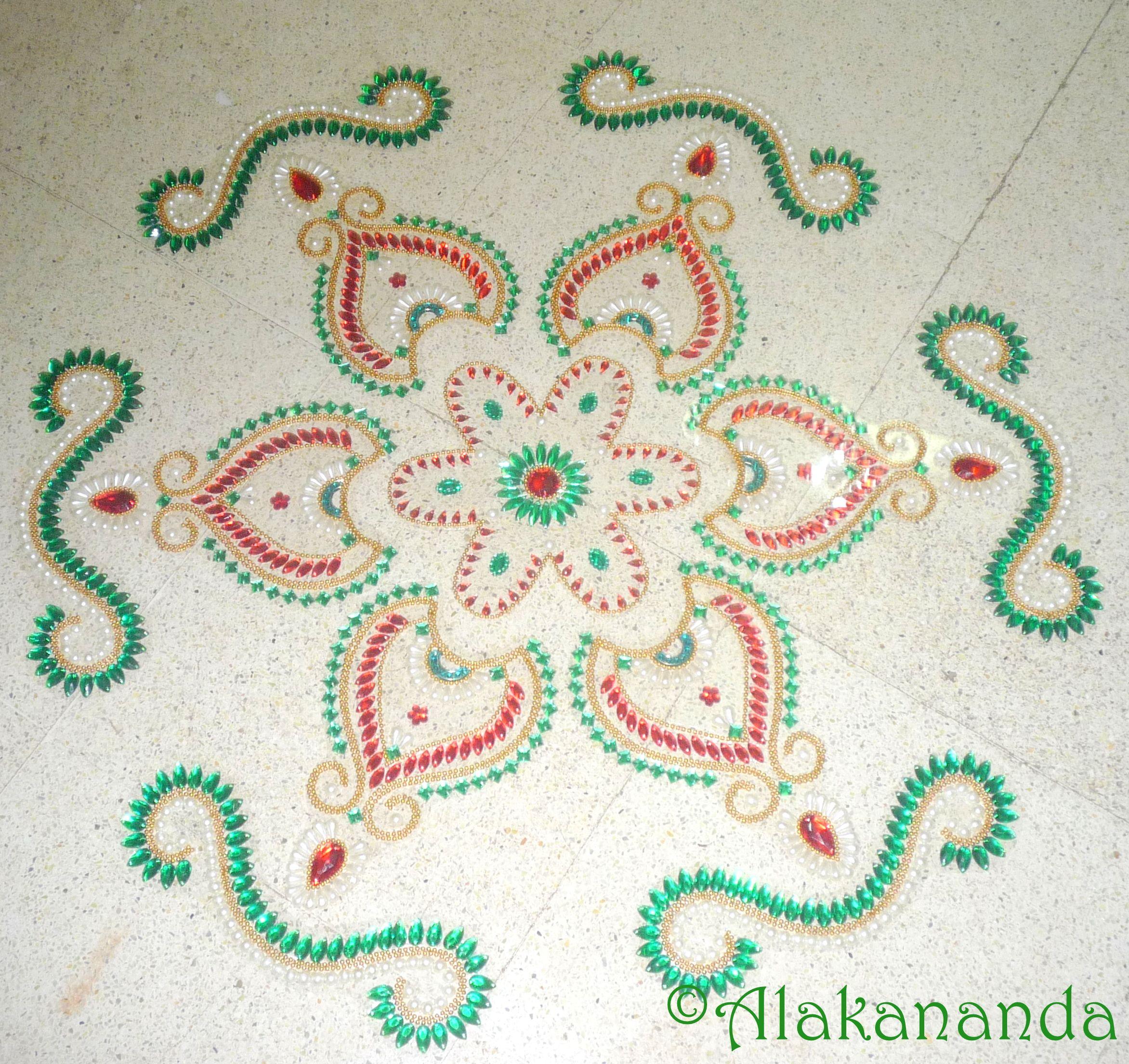 Kundan Rangoli Design Rangoli Designs Kundan