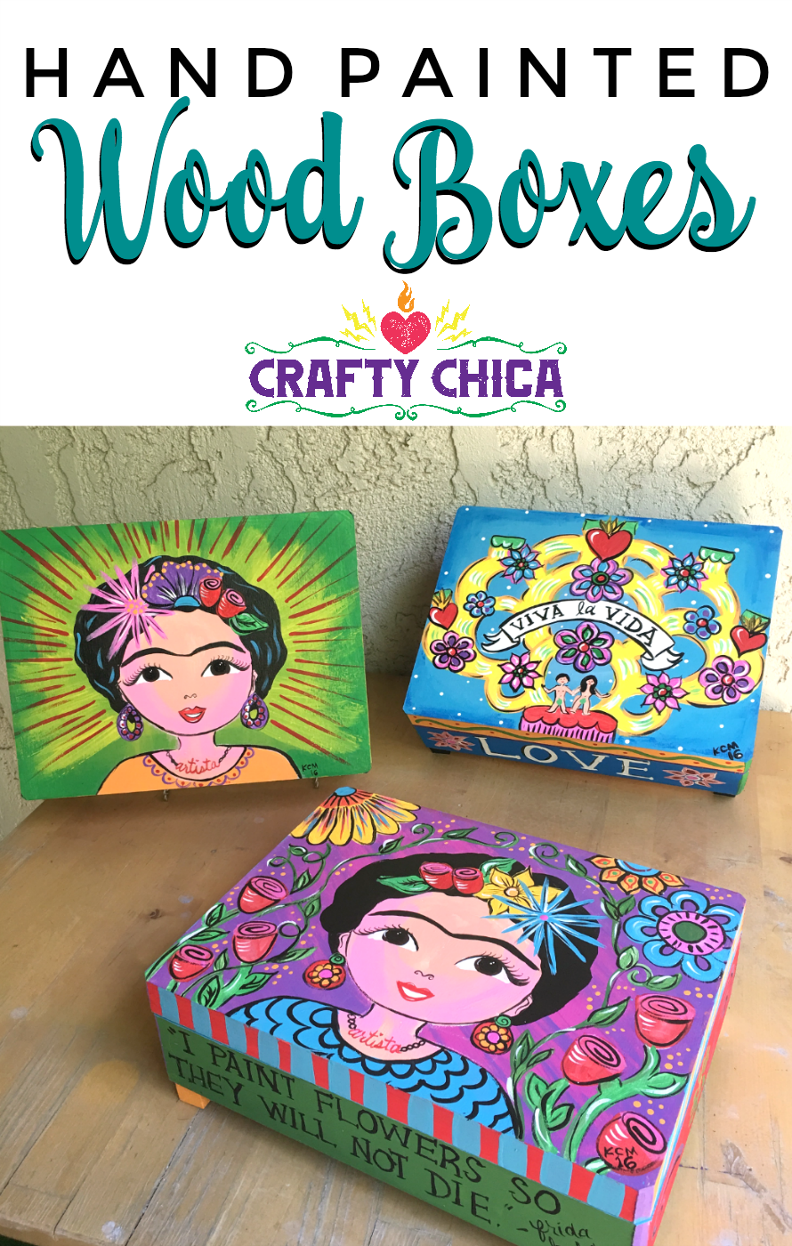 One of the most classic forms of crafting is old school painting on a surface. That's where this hand painted wood box project comes into play. Paint, brushes, a box and unlimited imagination and creativity.  Earlier this year, Walnut Hollow was kind enough to sponsor a workshopon the 10th Annual Crafty Chica Art Cruise. They supplied anUnfinished Wood Box(link takes you to Amazon, or you can find them at the craft store) for each cruiser!    OK, on with the tutorial!    Plaid loade...