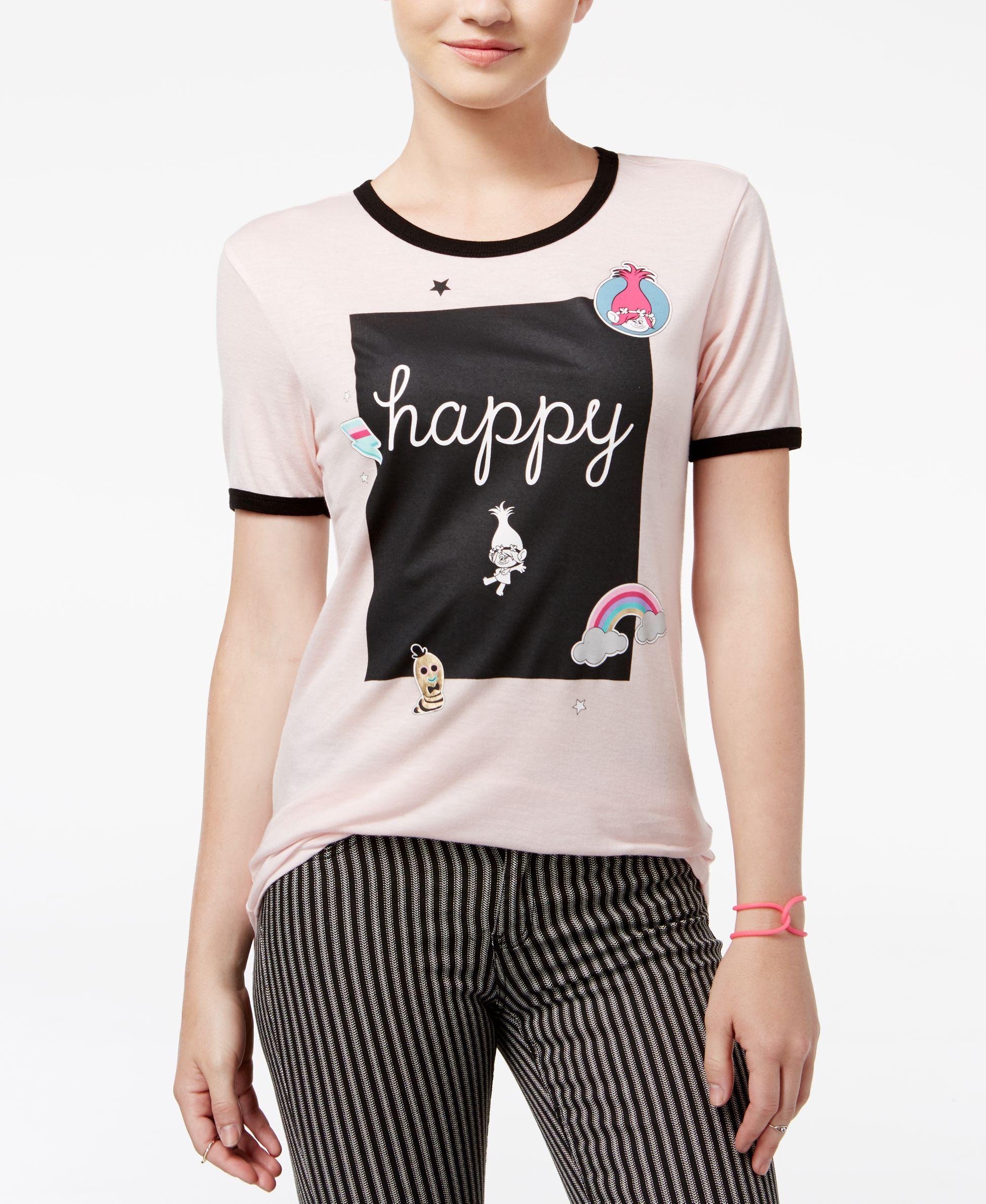 c97abc007 Trolls by DreamWorks Juniors' Happy Graphic T-Shirt | Iriana's ...