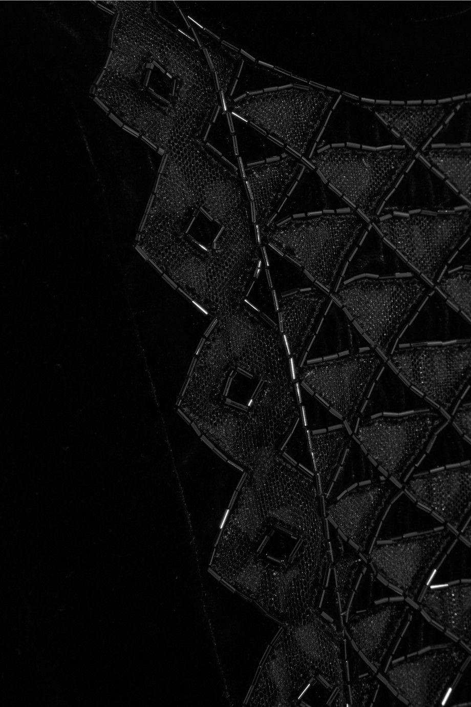 a4600657ccebc Valentino Beaded tulle and velvet dress | Fashion | Velvet, Tulle ...