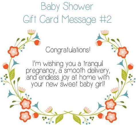baby shower gift card message idea 2 congratulations im wishing you a tranquil pregnancy a sooth delivery and endless joy at home with your new sweet