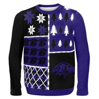 8760677a4f4 Baltimore Ravens Official NFL Busy Block Ugly Sweater by Klew ...