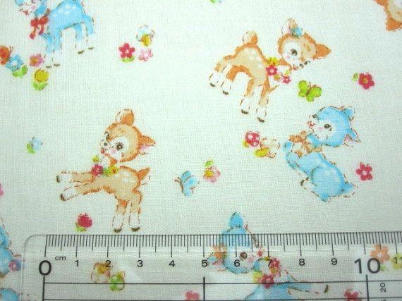 Japanese Fabric Double Gauze Mocomoco Bambi White