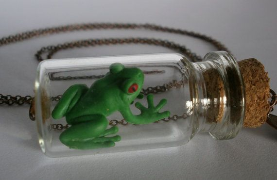 Your Place To Buy And Sell All Things Handmade Frog Crafts Glass Bottles Frog