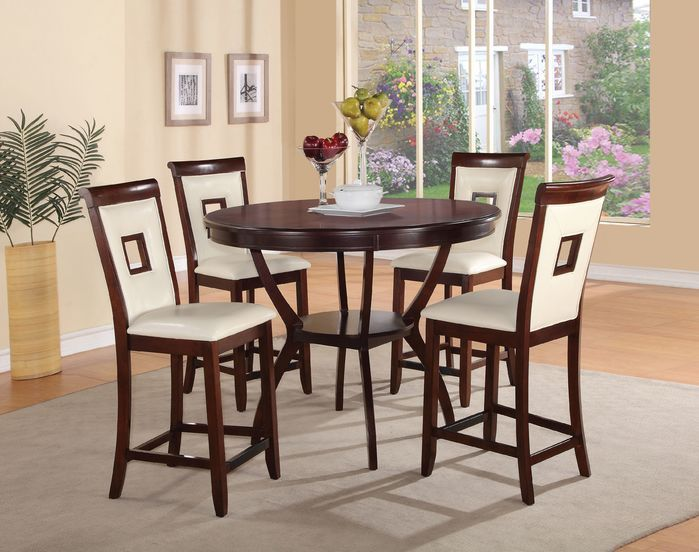 Loon Peak | Pasillas 5 Piece Counter Height Dining Set | Cream | Dining  Tables U0026