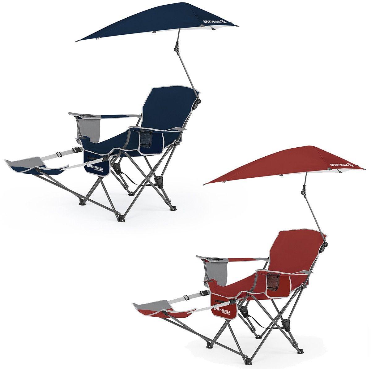 SKLZ SportBrella Recliner Folding Chair w/ Umbrella