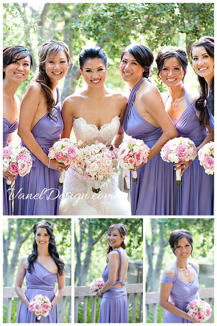 fab6a1a3115 Lavender Convertible Bridesmaid Wedding Dress. Short 59 Long 69  Vaneldesign