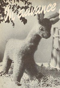 Lucy the Llama - vintage toy knitting pattern