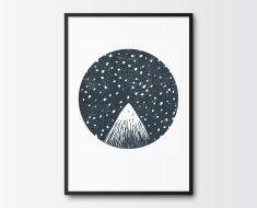 printable-art-illustration-mountain-peak-starry-night