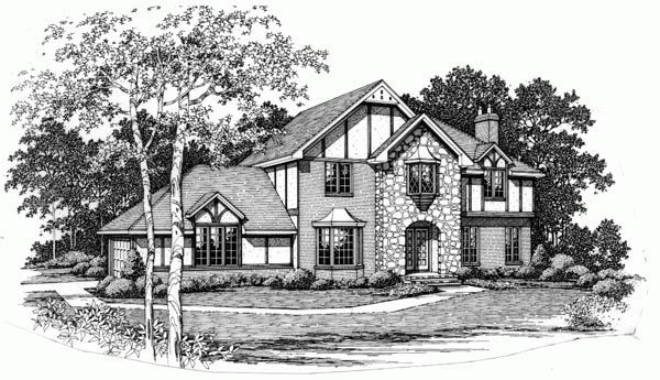 Tudor Style House Plan 90435 With 3 Bed 3 Bath Tudor Style Homes House Plans Floor Plan Design