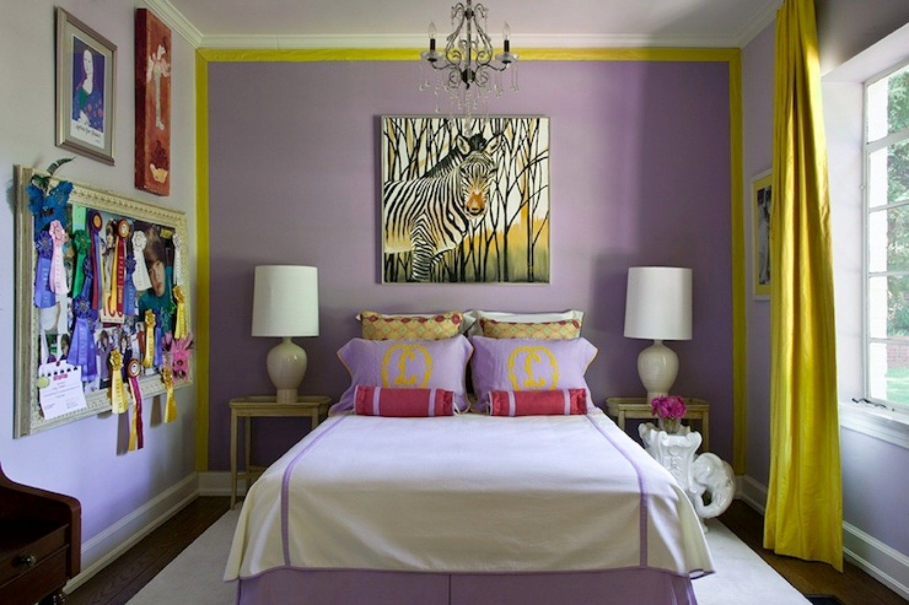 Bedroom Purple And Yellow Ideas For Age