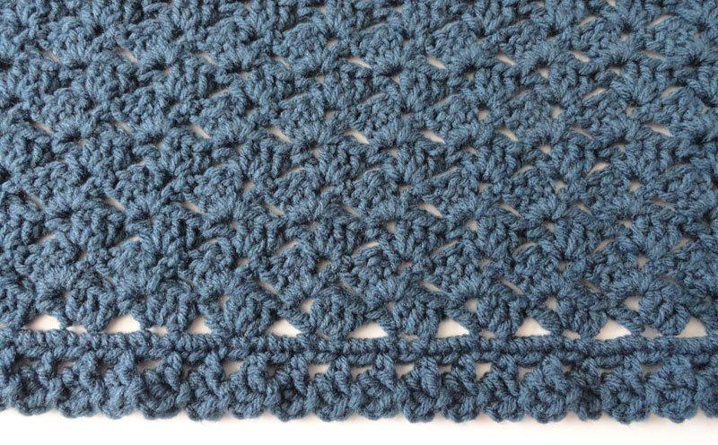 Hand Crocheted Afghan Throw Blanket Windsor by KnitKnacksCreations