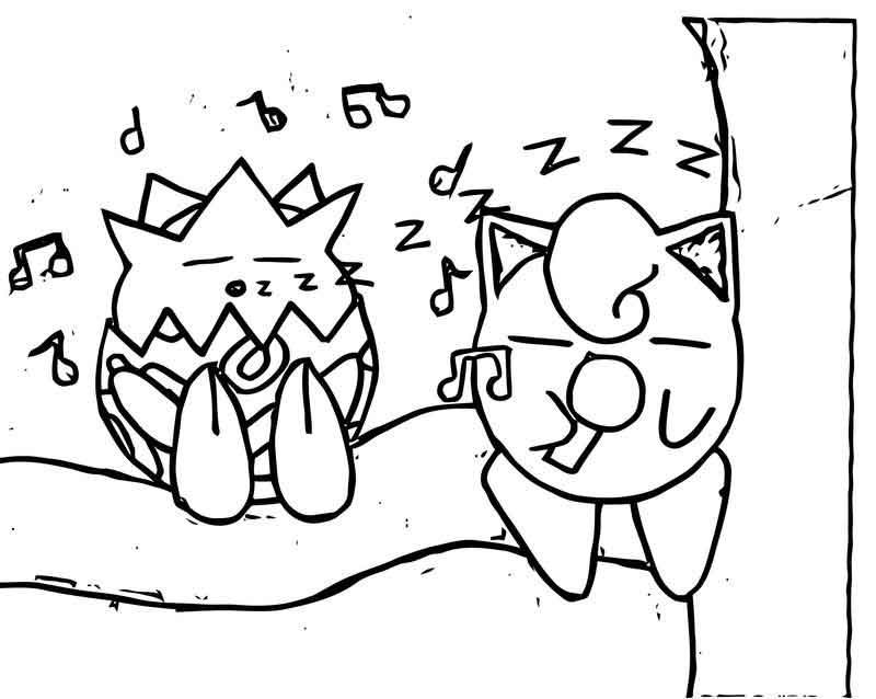Togepi And Jigglypuff Coloring Page Coloring Pages Free
