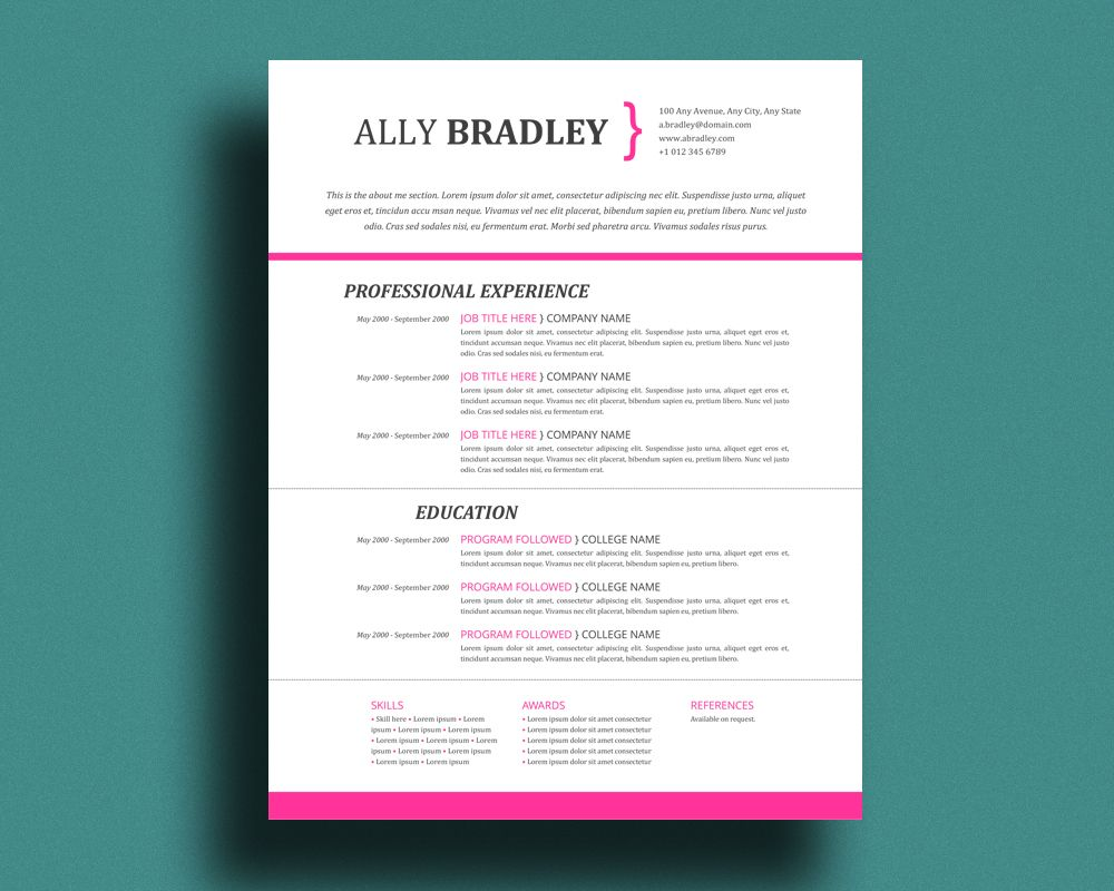 One of our favourite cv designs by pandapawgraphic cv