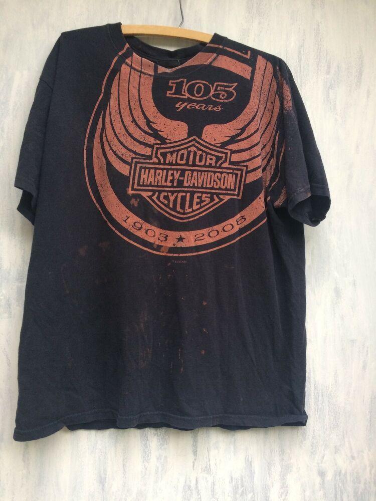 Harley Davidson Tshirt 105th Anniversary Mens L Milwaukee