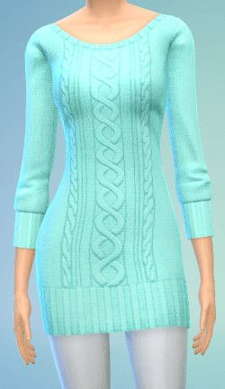 The simsperience: 4 Sweater Dress - Sims 4 Downloads. Actually looks like a dress I have!
