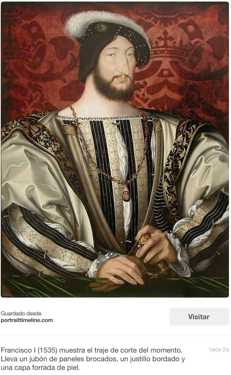 Francisco I De Francia Uno De Los Rivales Junto Con Carlos V De España Del Rey Enrique Viii Mientras T Francisco I De Francia Retrato De Hombre Renacimiento