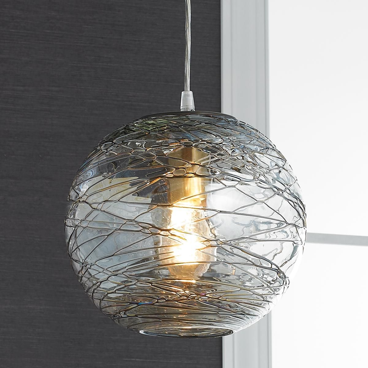 Luna Rod Pendant With 10 Clear Shade Pendant Fixture Globe Pendant Light Pendant Lighting