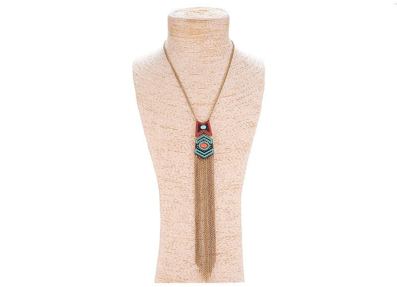 Astral Curtain Fringe Necklace