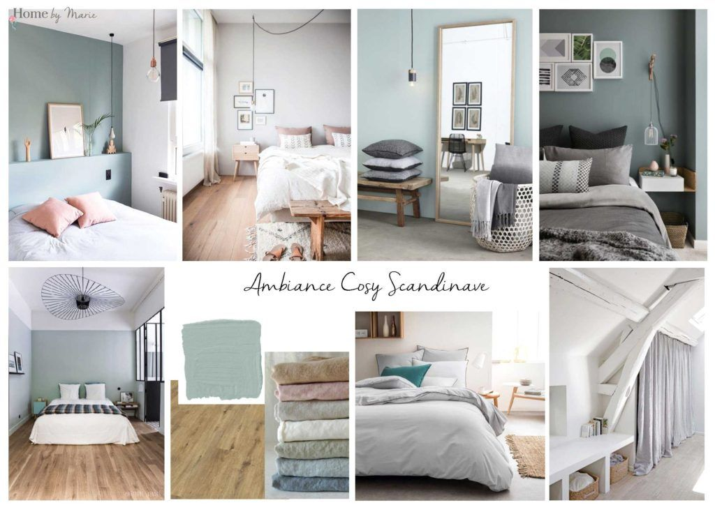 Une chambre parentale cosy et scandinave - Home by Marie Décoration