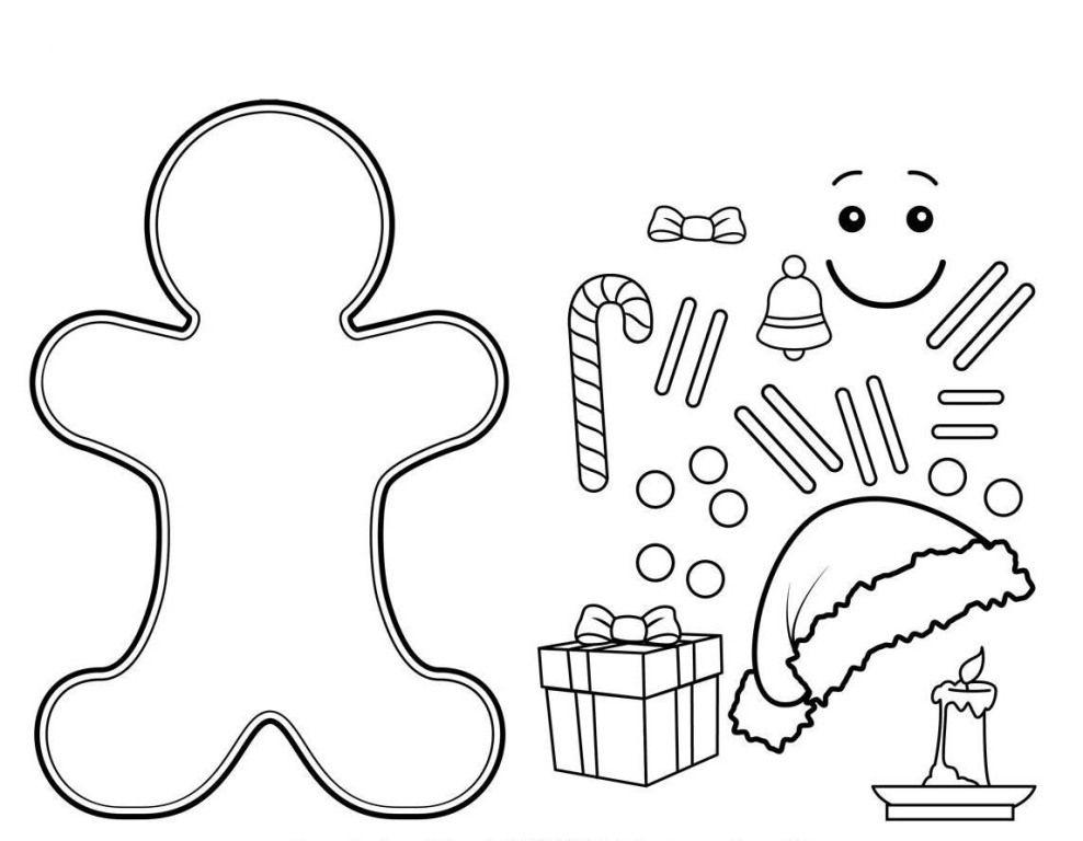 gingerbread man to color coloring 3 vorlage. Black Bedroom Furniture Sets. Home Design Ideas