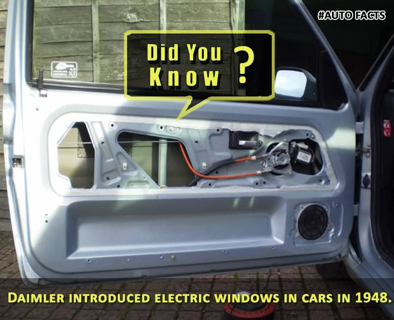 The Electric Windows you see in your current day Cars was invented ...