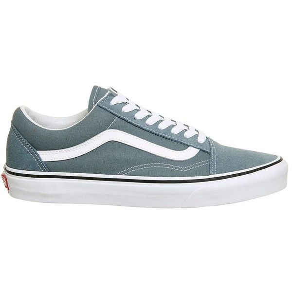 Old Skool Trainers By Vans Supplied Office 77 Liked On Polyvore Featuring Shoes Sneakers Blue Lace Up Laced