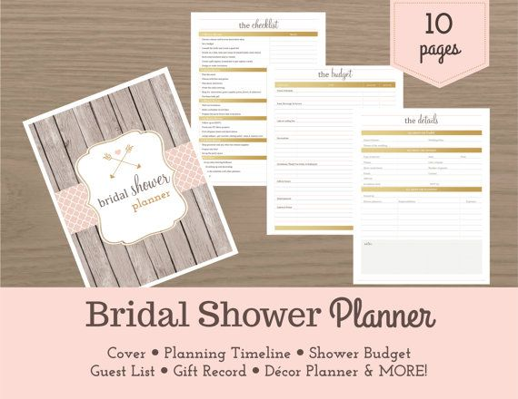 bridal shower planner pdf file 10 pages organize a fabulous bridal shower with this stylish and convenient planner from the guest list