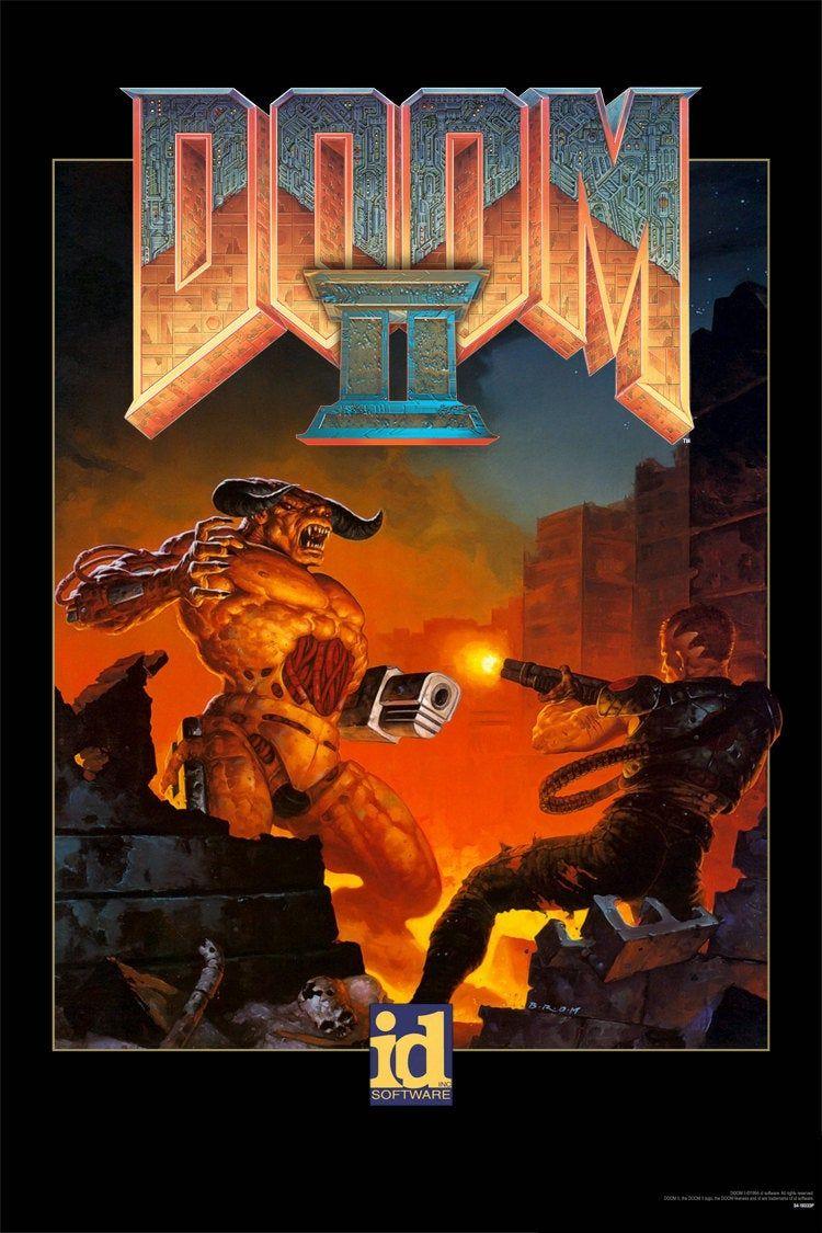 Doom Ii Video Game Poster Multiple Sizes Available Etsy Video Game Posters Doom Classic Game Artwork
