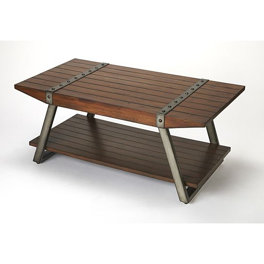 Buy Butler Lamont Iron & Wood Cocktail Table by Butler Specialty on Dot & Bo