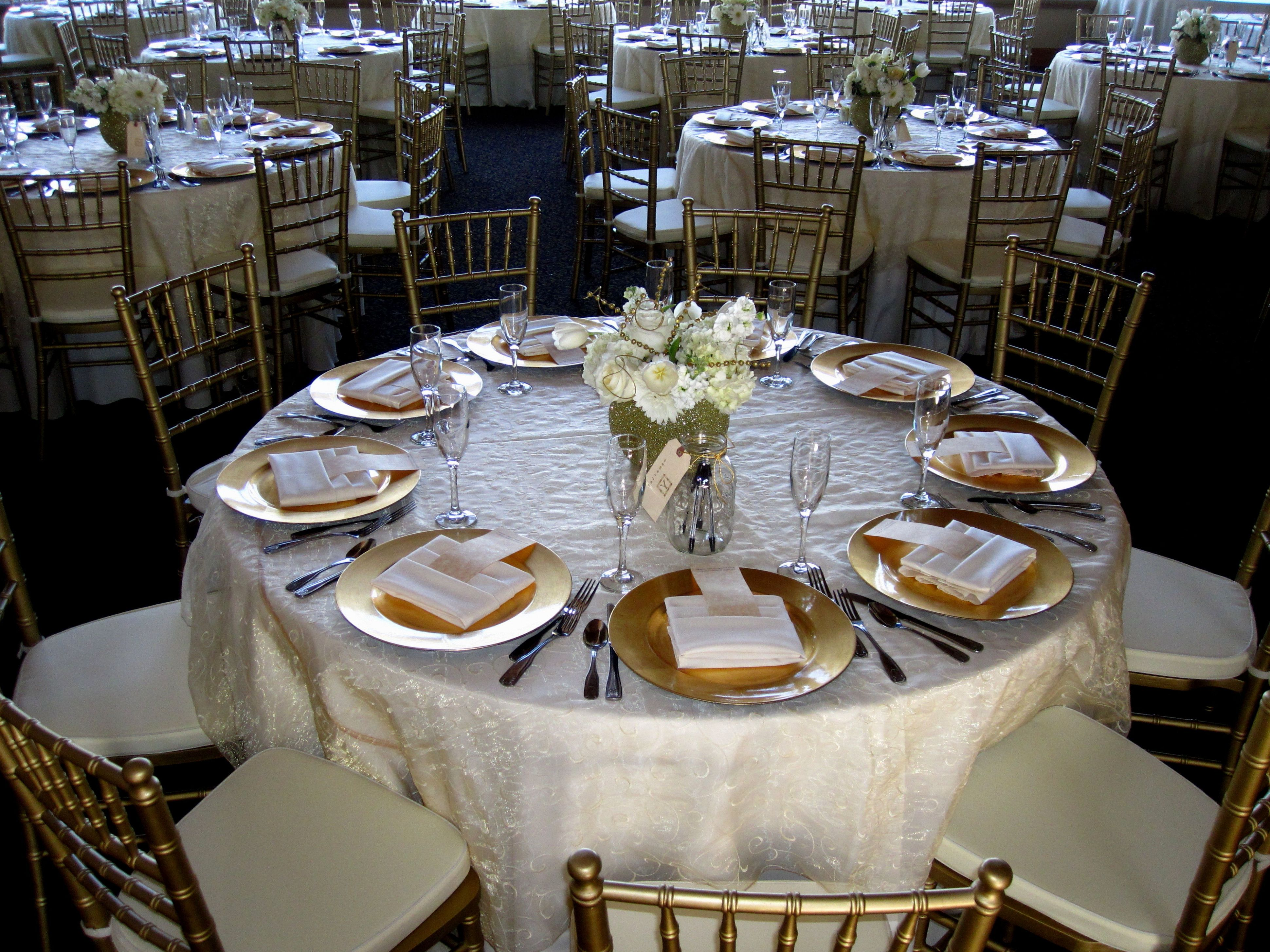 Decoration ideas for 50th wedding anniversary celebration  Wedding Reception Centerpieces For Round Tables  beach wedding hair